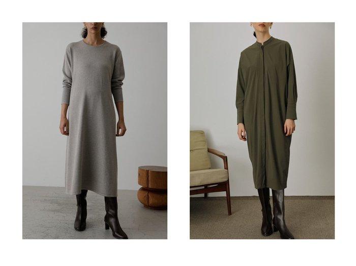 【RIM.ARK/リムアーク】の2 neck type knit ドレス・ワンピース&Dolman cocoon ドレス・ワンピース ワンピース・ドレスのおすすめ!人気、レディースファッションの通販 おすすめファッション通販アイテム インテリア・キッズ・メンズ・レディースファッション・服の通販 founy(ファニー) https://founy.com/ ファッション Fashion レディース WOMEN ワンピース Dress ドレス Party Dresses シンプル セットアップ ドレス パターン フェミニン フレア ベスト ロング 春 スタイリッシュ  ID:crp329100000005394