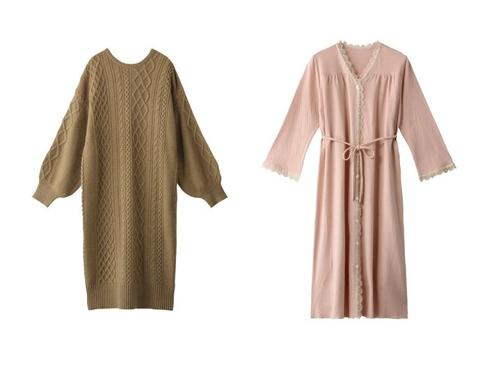 【ROSE BUD/ローズバッド】のケーブルニットワンピース&【nanadecor/ナナデコール】のスズランギャザードレス ワンピース・ドレスのおすすめ!人気、レディースファッションの通販 おすすめファッション通販アイテム レディースファッション・服の通販 founy(ファニー) ファッション Fashion レディース WOMEN ワンピース Dress ニットワンピース Knit Dresses ドレス Party Dresses トレンド ロング 今季 ドレス フェミニン レース 人気 |ID:crp329100000005396