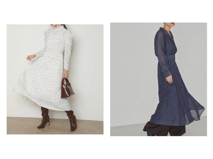 【SNIDEL/スナイデル】のパフスリプリントワンピース&【FRAY I.D/フレイ アイディー】のプリーツワンピース ワンピース・ドレスのおすすめ!人気、レディースファッションの通販 おすすめファッション通販アイテム レディースファッション・服の通販 founy(ファニー) ファッション Fashion レディース WOMEN ワンピース Dress マキシワンピース Maxi Dress インナー ギャザー クラシカル シャーリング スタンド スリーブ ドット 人気 パープル フレア プリーツ マキシ ロング 冬 Winter A/W 秋冬 Autumn & Winter 無地 |ID:crp329100000005409