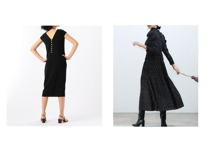 【SNIDEL/スナイデル】のパフスリプリントワンピース&【TOMORROWLAND BUYING WEAR/トゥモローランド バイイング ウェア】のsophistique′ FLICKA バックパールVネックワンピース ワンピース・ドレスのおすすめ!人気、レディースファッションの通販 おすすめファッション通販アイテム レディースファッション・服の通販 founy(ファニー) ファッション Fashion レディース WOMEN ワンピース Dress マキシワンピース Maxi Dress コレクション シンプル ドレス パール フェミニン インナー ギャザー クラシカル シャーリング スタンド スリーブ ドット 人気 パープル フレア プリーツ マキシ ロング 冬 Winter A/W 秋冬 Autumn & Winter |ID:crp329100000005410