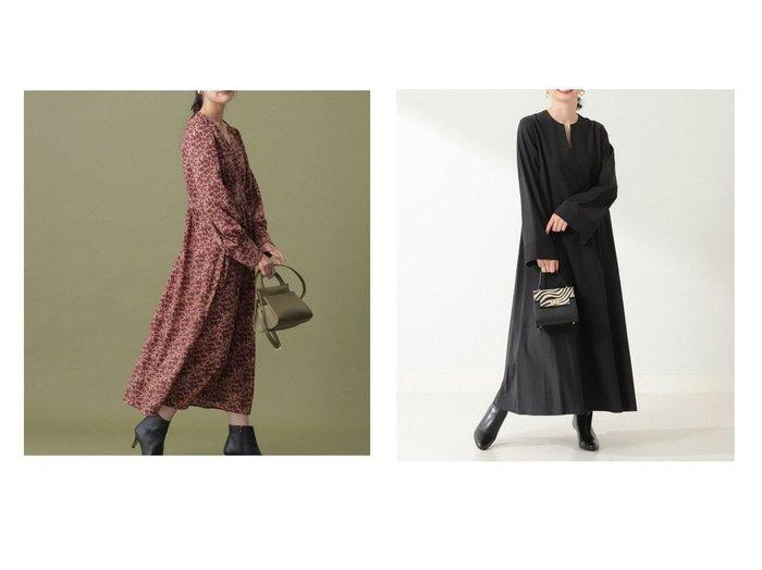 【Demi-Luxe BEAMS/デミルクス ビームス】のDemi- テントライン ワンピース&【nano universe/ナノ ユニバース】のフラワープリントワンピース ワンピース・ドレスのおすすめ!人気、レディースファッションの通販 おすすめファッション通販アイテム レディースファッション・服の通販 founy(ファニー) ファッション Fashion レディース WOMEN ワンピース Dress カフス クラシカル フラワー プリント ロング 羽織 シンプル スリット スリーブ 切替 長袖 |ID:crp329100000005411