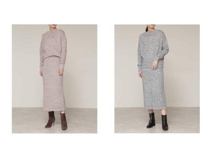 【BOSCH/ボッシュ】のミックスカラーニットセットアップスカート ワンピース・ドレスのおすすめ!人気、レディースファッションの通販 おすすめファッション通販アイテム レディースファッション・服の通販 founy(ファニー) ファッション Fashion レディース WOMEN セットアップ Setup スカート Skirt ストレート スリット セットアップ ツイード |ID:crp329100000005418