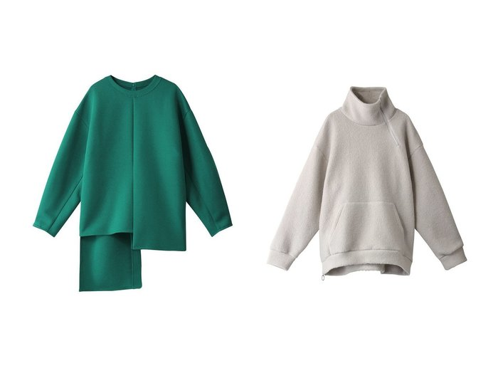 【LE CIEL BLEU/ルシェル ブルー】のアシンメトリーヘムトップス&ブークレアシンメトリージップトラックトップス トップス・カットソーのおすすめ!人気、レディースファッションの通販 おすすめファッション通販アイテム レディースファッション・服の通販 founy(ファニー) ファッション Fashion レディース WOMEN トップス Tops Tshirt シャツ/ブラウス Shirts Blouses ロング / Tシャツ T-Shirts カットソー Cut and Sewn シンプル スリーブ センター ロング ジップ スリット 定番 A/W 秋冬 Autumn & Winter |ID:crp329100000005427