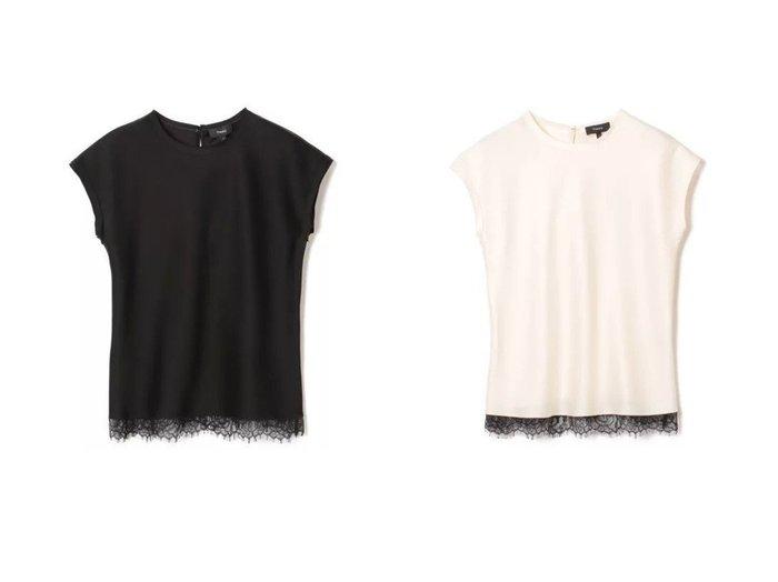 【theory/セオリー】のGLOSS SATEEN SLIP T SHIRT トップス・カットソーのおすすめ!人気、レディースファッションの通販 おすすめファッション通販アイテム レディースファッション・服の通販 founy(ファニー) ファッション Fashion レディース WOMEN トップス Tops Tshirt キャミソール / ノースリーブ No Sleeves シャツ/ブラウス Shirts Blouses ロング / Tシャツ T-Shirts エレガント ドレープ ノースリーブ レース |ID:crp329100000005440