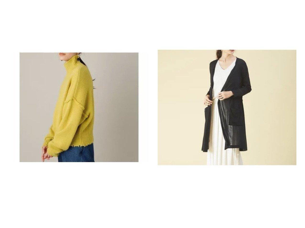 【qualite/カリテ】の【機能素材】ドライフライスロングカーディガン&【Adam et Rope/アダム エ ロペ】の【WEB限定】フリンジタートルショートプルオーバー トップス・カットソーのおすすめ!人気、レディースファッションの通販 おすすめで人気のファッション通販商品 インテリア・家具・キッズファッション・メンズファッション・レディースファッション・服の通販 founy(ファニー) https://founy.com/ ファッション Fashion レディース WOMEN トップス Tops Tshirt ニット Knit Tops プルオーバー Pullover タートルネック Turtleneck カーディガン Cardigans シャツ/ブラウス Shirts Blouses ロング / Tシャツ T-Shirts カットソー Cut and Sewn インナー カットソー 今季 ショート シンプル スラックス センター セーター タートル タートルネック ダメージ デニム 人気 フリンジ ポケット ワイド カーディガン ガウン フェミニン フレア |ID:crp329100000005441