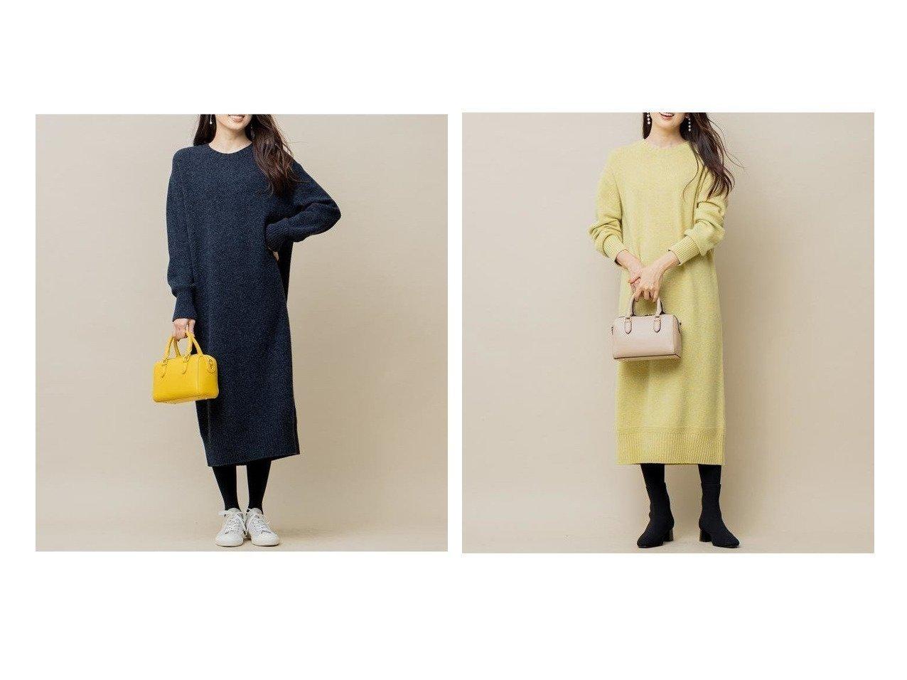 【KUMIKYOKU/組曲】の【WEB限定カラーあり】メランジバルキー ニットワンピース 別注・限定・コラボなど、おすすめで人気!レディースファッション通販 おすすめで人気のファッション通販商品 インテリア・家具・キッズファッション・メンズファッション・レディースファッション・服の通販 founy(ファニー) https://founy.com/ ファッション Fashion レディース WOMEN ワンピース Dress ニットワンピース Knit Dresses ハイネック パステル ベーシック ミックス メランジ リラックス 冬 Winter A/W 秋冬 Autumn &  Winter |ID:crp329100000005538