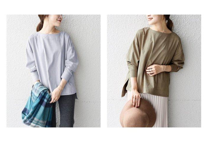 【SHIPS/シップス フォー ウィメン】の【WEB限定】エコスエードトップス 別注・限定・コラボなど、おすすめで人気!レディースファッション通販  おすすめファッション通販アイテム レディースファッション・服の通販 founy(ファニー) ファッション Fashion レディース WOMEN トップス Tops Tshirt シャツ/ブラウス Shirts Blouses ロング / Tシャツ T-Shirts カットソー Cut and Sewn エアリー シンプル スエード ドット ボトム ルーズ |ID:crp329100000005753