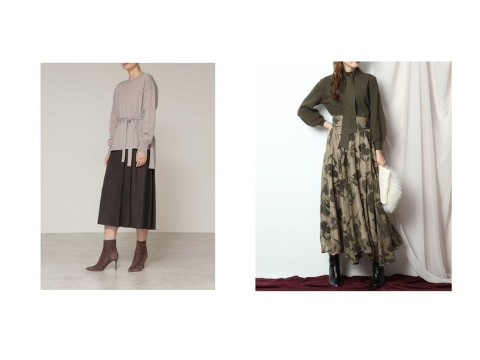 【BOSCH/ボッシュ】のシックツィードツイルスカート&【Mystrada/マイストラーダ】のリリーフロッキースカート スカートのおすすめ!人気、レディースファッションの通販 おすすめファッション通販アイテム レディースファッション・服の通販 founy(ファニー) ファッション Fashion レディース WOMEN スカート Skirt Aライン/フレアスカート Flared A-Line Skirts クラシック ストレッチ ツイード エレガント ギャザー フェミニン フレア  ID:crp329100000005792