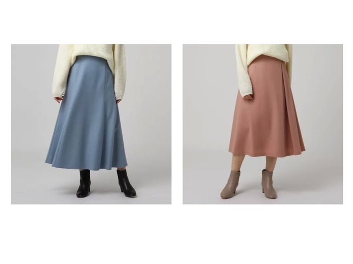 【UNTITLED/アンタイトル】のルミナリーミルドジャージマーメイドスカート&ハイカウントフラノタックスカート スカートのおすすめ!人気、レディースファッションの通販 おすすめファッション通販アイテム インテリア・キッズ・メンズ・レディースファッション・服の通販 founy(ファニー) https://founy.com/ ファッション Fashion レディース WOMEN スカート Skirt インナー ポケット マーメイド アシンメトリー バランス フレア ミドル 人気 A/W 秋冬 Autumn & Winter |ID:crp329100000005796