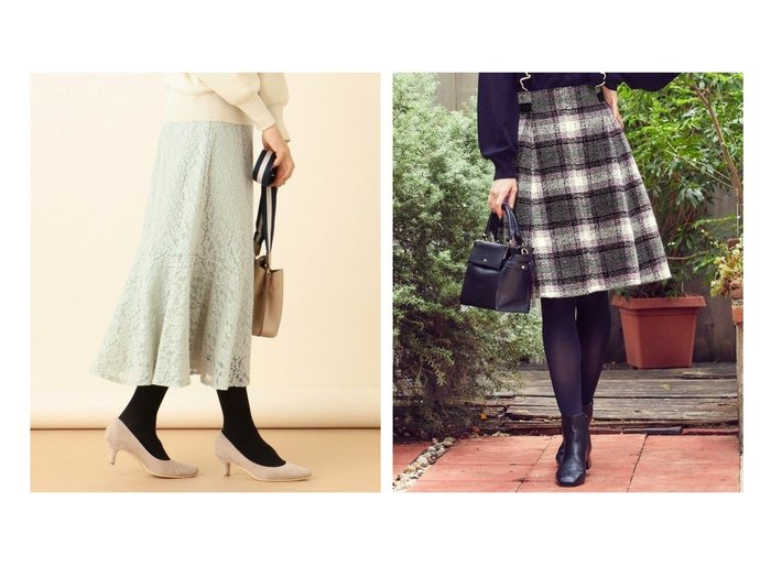 【Feroux/フェルゥ】のループツイーディチェック スカート&【any SiS/エニィ スィス】の【洗える】キモウレースフレア スカート スカートのおすすめ!人気、レディースファッションの通販 おすすめファッション通販アイテム レディースファッション・服の通販 founy(ファニー) ファッション Fashion レディース WOMEN スカート Skirt Aライン/フレアスカート Flared A-Line Skirts スニーカー トレンド パーカー フェミニン フラワー フレア ミモレ レース 冬 Winter クラシック チェック ドット バランス A/W 秋冬 Autumn & Winter |ID:crp329100000005800