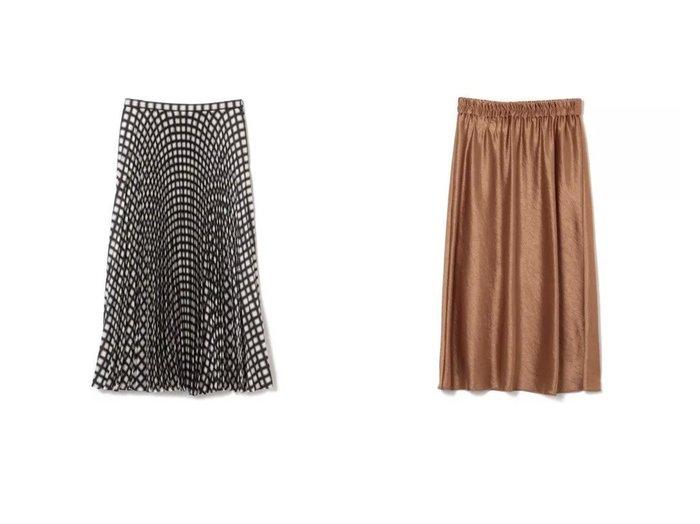 【theory/セオリー】のDOUBLE SATEEN 2 ESY PULL&CHECK TWILL POLY WB PLEAT スカートのおすすめ!人気、レディースファッションの通販 おすすめファッション通販アイテム レディースファッション・服の通販 founy(ファニー) ファッション Fashion レディース WOMEN スカート Skirt チェック プリーツ マキシ ロング |ID:crp329100000005811