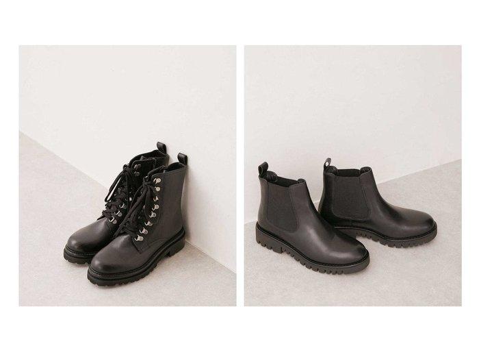 【nano universe/ナノ ユニバース】のレースアップブーツ&サイドゴアブーツ シューズ・靴のおすすめ!人気、レディースファッションの通販 おすすめファッション通販アイテム インテリア・キッズ・メンズ・レディースファッション・服の通販 founy(ファニー) https://founy.com/ ファッション Fashion レディース WOMEN シューズ ミドル |ID:crp329100000005813