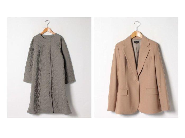 【theory/セオリー】のジャケット LIGHT SAXONY 2 FITTED BLA&【Theory Luxe/セオリーリュクス】のコート SPICA VIRGO アウターのおすすめ!人気、レディースファッションの通販 おすすめファッション通販アイテム レディースファッション・服の通販 founy(ファニー) ファッション Fashion レディース WOMEN アウター Coat Outerwear コート Coats ジャケット Jackets テーラードジャケット Tailored Jackets クラシカル スリット タンブラー ワッシャー ウォーム ジャケット ストレッチ ファブリック フラップ ポケット ロング |ID:crp329100000005854