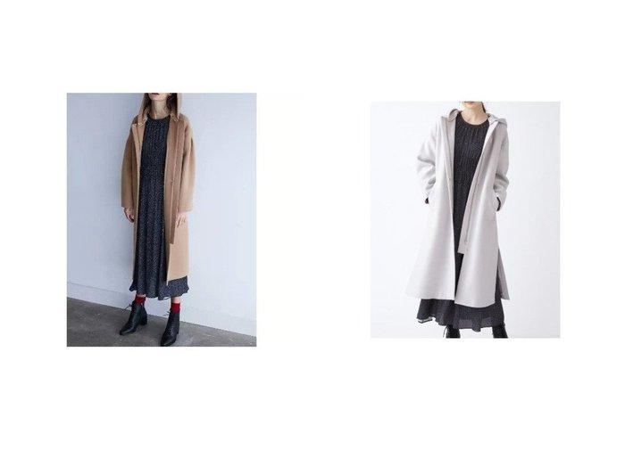 【JILLSTUART/ジルスチュアート】のメーガンコート アウターのおすすめ!人気、レディースファッションの通販 おすすめファッション通販アイテム レディースファッション・服の通販 founy(ファニー) ファッション Fashion レディース WOMEN アウター Coat Outerwear コート Coats スリット メルトン 防寒  ID:crp329100000005858
