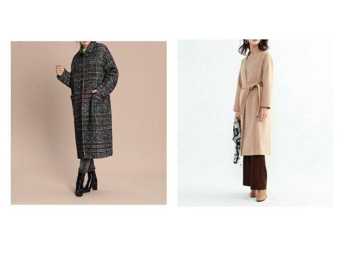 【INED/イネド】の《Maison de Beige》ループチェックステンコート&【INDIVI/インディヴィ】のグレードカシミヤコート アウターのおすすめ!人気、レディースファッションの通販 おすすめファッション通販アイテム インテリア・キッズ・メンズ・レディースファッション・服の通販 founy(ファニー) https://founy.com/ ファッション Fashion レディース WOMEN アウター Coat Outerwear コート Coats ジャケット Jackets チェスターコート Top Coat ショルダー シンプル ジャケット チェック トレンド ドロップ ポケット モヘア ループ ロング 定番 イタリア カシミヤ カッティング スタイリッシュ ストレート スリム チェスターコート ボトム |ID:crp329100000005864