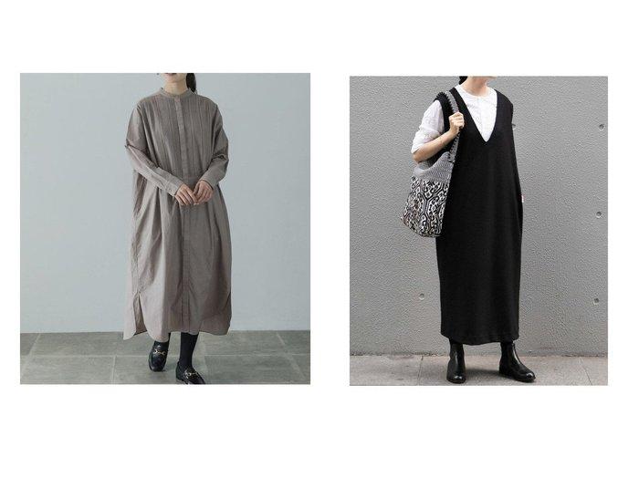【kagure/かぐれ】のコットンピンタックシャツワンピース&ウールスムースVネックワンピース ワンピース・ドレスのおすすめ!人気、レディースファッションの通販 おすすめファッション通販アイテム レディースファッション・服の通販 founy(ファニー) ファッション Fashion レディース WOMEN ワンピース Dress シャツワンピース Shirt Dresses インナー スタンダード タートル ベーシック ポケット ロング  ID:crp329100000005887