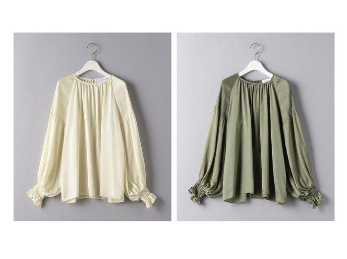 【UNITED ARROWS/ユナイテッドアローズ】のUWCS P MAJOLICA ボリュームスリーブ ブラウス トップス・カットソーのおすすめ!人気、レディースファッションの通販 おすすめファッション通販アイテム レディースファッション・服の通販 founy(ファニー) ファッション Fashion レディース WOMEN トップス Tops Tshirt シャツ/ブラウス Shirts Blouses ボリュームスリーブ / フリル袖 Volume Sleeve ギャザー サテン スリーブ フェミニン プリーツ ボトム |ID:crp329100000005901
