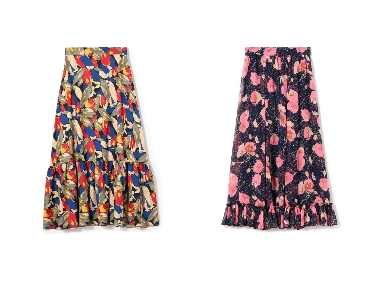 【ESTNATION/エストネーション】のリーフプリントティアードスカート&フラワープリントロングスカート おすすめ!人気トレンドファッションの通販 おすすめで人気のファッション通販商品 インテリア・家具・キッズファッション・メンズファッション・レディースファッション・服の通販 founy(ファニー) https://founy.com/ ファッション Fashion レディース WOMEN スカート Skirt ティアードスカート Tiered Skirts ロングスカート Long Skirt ティアードスカート トレンド プリント |ID:crp329100000005991