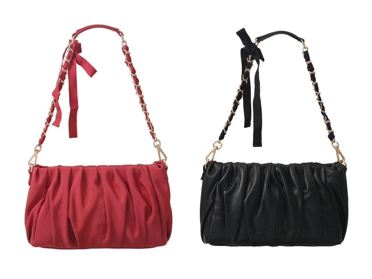 【LANVIN en Bleu/ランバン オン ブルー】のグログランギャザーハンドバッグ&レザーギャザーハンドバッグ バッグ・鞄のおすすめ!人気トレンド・レディースファッションの通販 おすすめで人気のファッション通販商品 インテリア・家具・キッズファッション・メンズファッション・レディースファッション・服の通販 founy(ファニー) https://founy.com/ ファッション Fashion レディース WOMEN バッグ Bag ギャザー グログラン ハンドバッグ フォルム なめらか アクセサリー チェーン パーティ リボン  ID:crp329100000006083