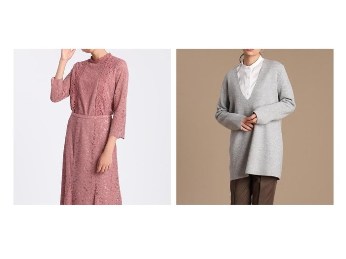 【ef-de/エフデ】の《Maglie WHITE》コードレースブラウス&【INED/イネド】の《YVON》チュニックニット トップス・カットソーのおすすめ!人気トレンド・レディースファッションの通販 おすすめファッション通販アイテム レディースファッション・服の通販 founy(ファニー) ファッション Fashion レディース WOMEN トップス Tops Tshirt シャツ/ブラウス Shirts Blouses ニット Knit Tops スカラップ フロント レース チュニック リラックス 冬 Winter |ID:crp329100000006230