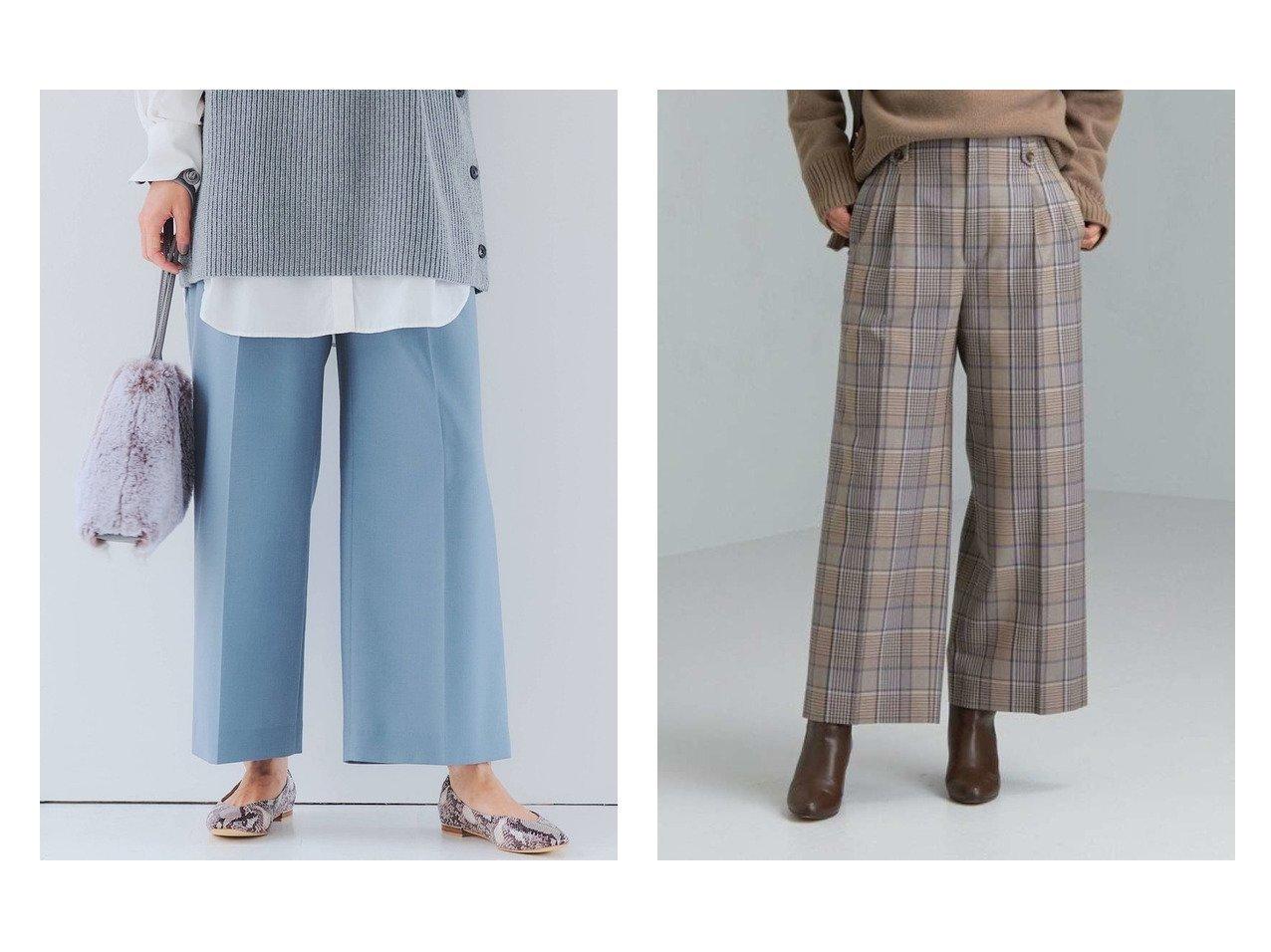 【green label relaxing / UNITED ARROWS/グリーンレーベル リラクシング / ユナイテッドアローズ】の[ TWトリアセ ] FM タック ワイド パンツ パンツのおすすめ!人気トレンド・レディースファッションの通販 おすすめで人気のファッション通販商品 インテリア・家具・キッズファッション・メンズファッション・レディースファッション・服の通販 founy(ファニー) https://founy.com/ ファッション Fashion レディース WOMEN パンツ Pants 春 秋 ジーンズ フロント マニッシュ ワイド |ID:crp329100000006299