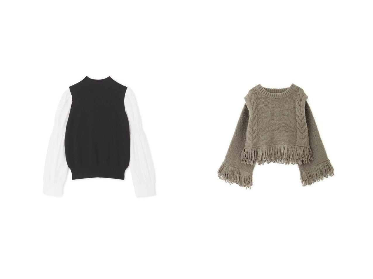 【FREE'S MART/フリーズマート】のループフリンジニット&布帛ドッキングハイネックボリュームスリーブニット おすすめ!人気トレンド・レディースファッションの通販 おすすめで人気のファッション通販商品 インテリア・家具・キッズファッション・メンズファッション・レディースファッション・服の通販 founy(ファニー) https://founy.com/ ファッション Fashion レディース WOMEN トップス Tops Tshirt ニット Knit Tops ボリュームスリーブ / フリル袖 Volume Sleeve コンパクト コンビ スリーブ セーター トレンド ドッキング ハイネック 人気 ショルダー バランス フリンジ ループ |ID:crp329100000006451