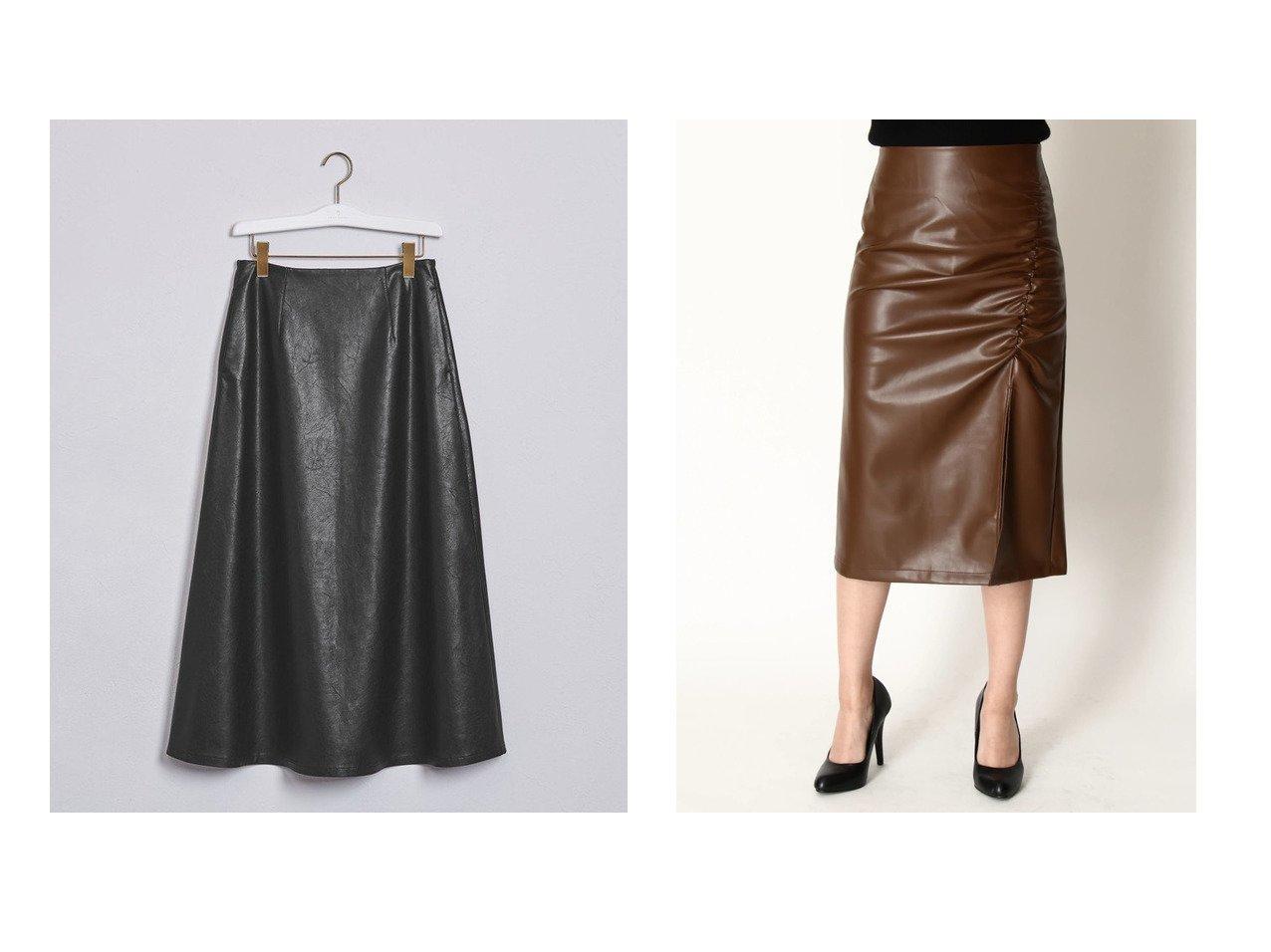 【UNITED ARROWS/ユナイテッドアローズ】のUWFM フェイクレザー スカート†&【DURAS/デュラス】のスリット入りフェイクレザースカート おすすめ!人気トレンド・レディースファッションの通販 おすすめで人気のファッション通販商品 インテリア・家具・キッズファッション・メンズファッション・レディースファッション・服の通販 founy(ファニー) https://founy.com/ ファッション Fashion レディース WOMEN スカート Skirt Aライン/フレアスカート Flared A-Line Skirts トレンド フェイクレザー フェミニン ポケット スリット タイトスカート ロング |ID:crp329100000006467