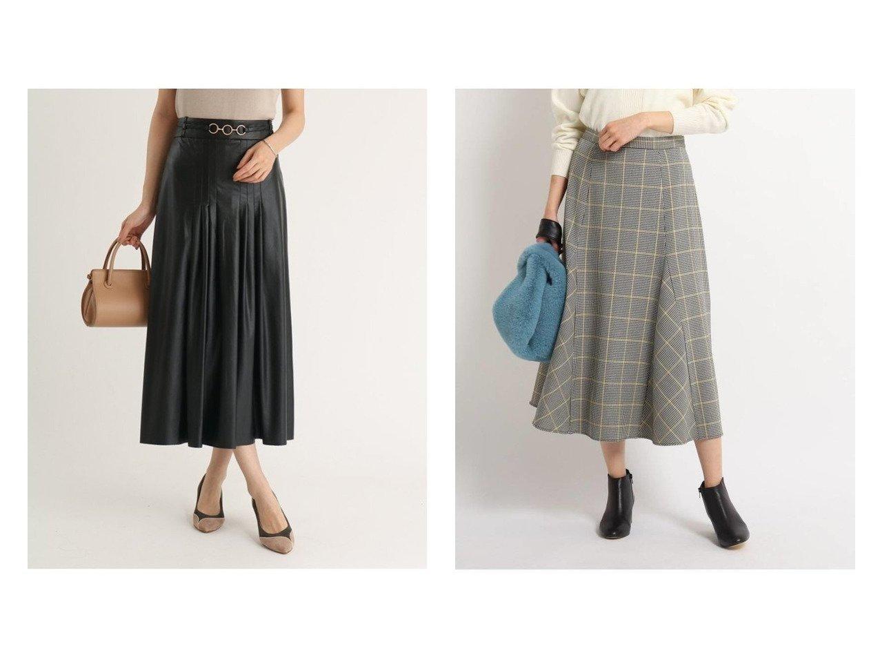 【FENNEL/フェンネル】のウエストベルトエコレザースカート&【Dessin/デッサン】の【XS~Lサイズあり・洗える】フレアースカート おすすめ!人気トレンド・レディースファッションの通販 おすすめで人気のファッション通販商品 インテリア・家具・キッズファッション・メンズファッション・レディースファッション・服の通販 founy(ファニー) https://founy.com/ ファッション Fashion レディース WOMEN スカート Skirt ベルト Belts A/W 秋冬 Autumn &  Winter トレンド フレア フロント リアル 秋 ショート チェック フレアースカート |ID:crp329100000006486