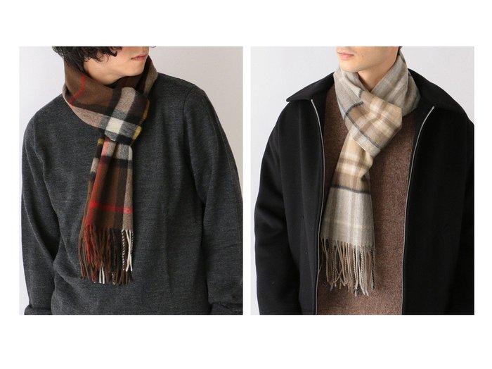 【SHIPS any / MEN/シップス エニィ】のTWEEDMILL ウール チェックマフラー 【MEN】男性のおすすめ!人気トレンド・メンズファッションの通販 おすすめファッション通販アイテム レディースファッション・服の通販 founy(ファニー) ファッション Fashion メンズ MEN スカーフ ストール チェック ツイード 人気 パターン ブランケット 帽子 マフラー  ID:crp329100000006498