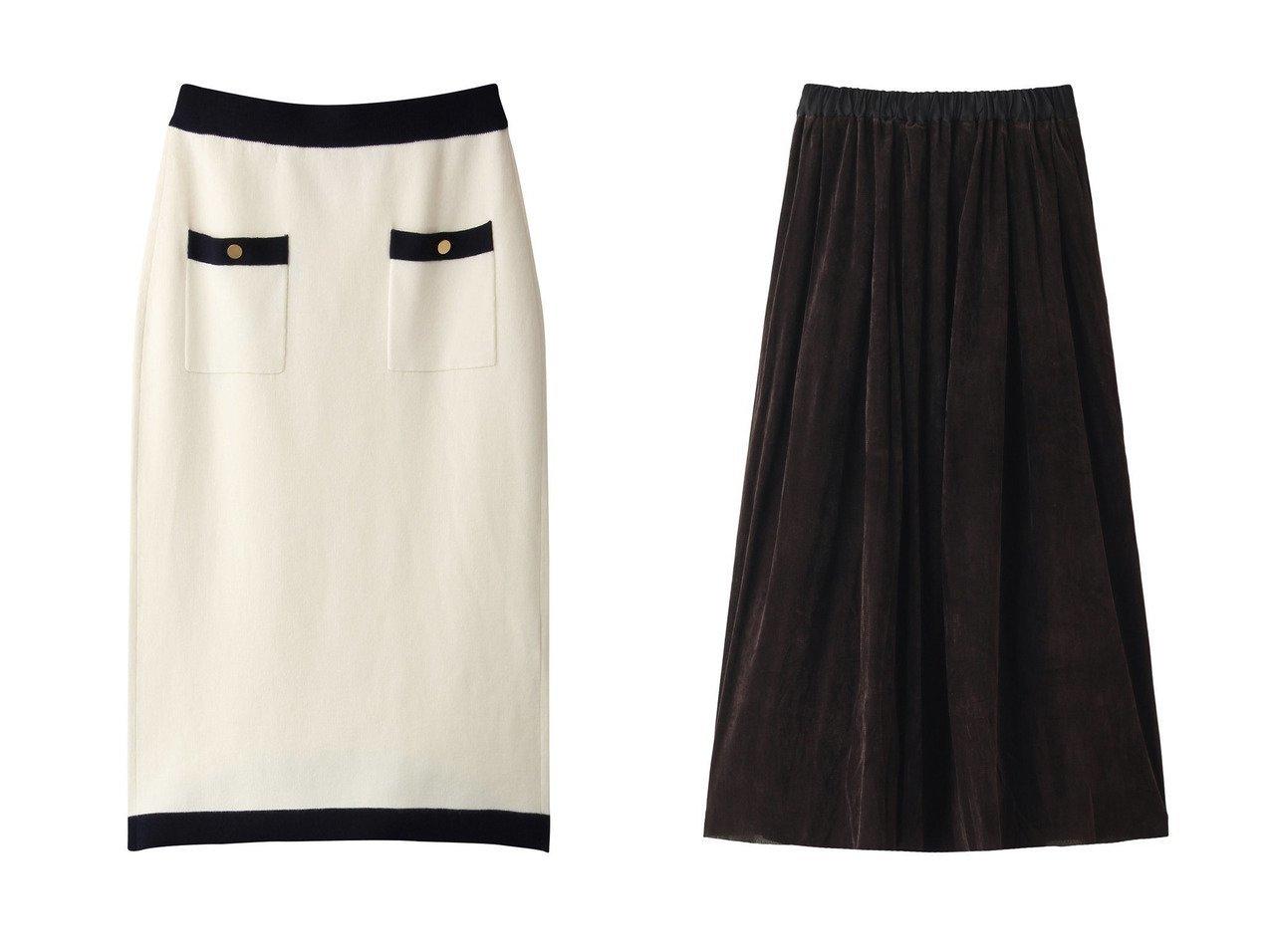 【martinique/マルティニーク】のゴールドボタンニットスカート&【mizuiro ind/ミズイロ インド】のパイルフロッキーフレアスカート スカートのおすすめ!人気トレンド・レディースファッションの通販 おすすめで人気のファッション通販商品 インテリア・家具・キッズファッション・メンズファッション・レディースファッション・服の通販 founy(ファニー) https://founy.com/ ファッション Fashion レディース WOMEN スカート Skirt ロングスカート Long Skirt Aライン/フレアスカート Flared A-Line Skirts コンパクト リュクス ロング |ID:crp329100000006570