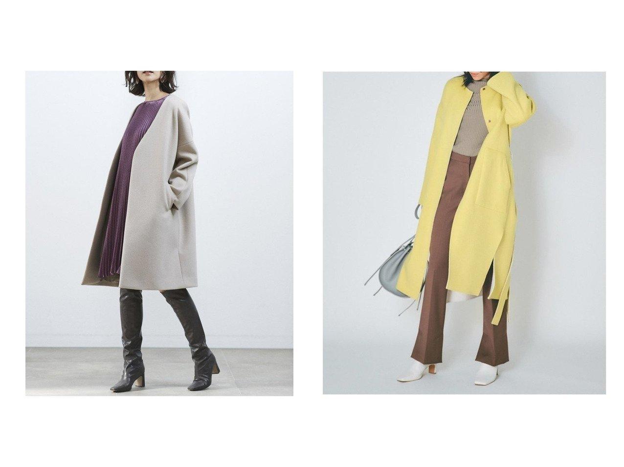 【SNIDEL/スナイデル】のノーカラーウールコート&【FRAY I.D/フレイ アイディー】のノーカラーリバーコート アウターのおすすめ!人気トレンド・レディースファッションの通販 おすすめで人気のファッション通販商品 インテリア・家具・キッズファッション・メンズファッション・レディースファッション・服の通販 founy(ファニー) https://founy.com/ ファッション Fashion レディース WOMEN アウター Coat Outerwear コート Coats ジャケット Jackets ノーカラージャケット No Collar Leather Jackets 12月号 ショルダー シンプル ジャケット ドロップ バランス フォーマル リュクス ロング 冬 Winter イエロー スリット リバーシブル  ID:crp329100000006592