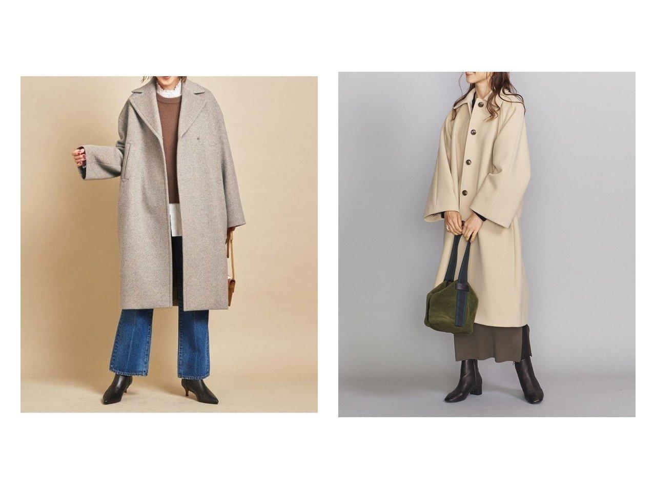 【BEAUTY&YOUTH UNITED ARROWS/ビューティアンド ユースユナイテッドアローズ】のBY モッサワイドスリーブステンカラーコート&BY MANTECO メランジミドルコート アウターのおすすめ!人気トレンド・レディースファッションの通販 おすすめで人気のファッション通販商品 インテリア・家具・キッズファッション・メンズファッション・レディースファッション・服の通販 founy(ファニー) https://founy.com/ ファッション Fashion レディース WOMEN アウター Coat Outerwear コート Coats ジャケット Jackets イタリア ジャケット スリーブ ミックス ミドル メランジ クラシカル ロング ワイド 冬 Winter  ID:crp329100000006593