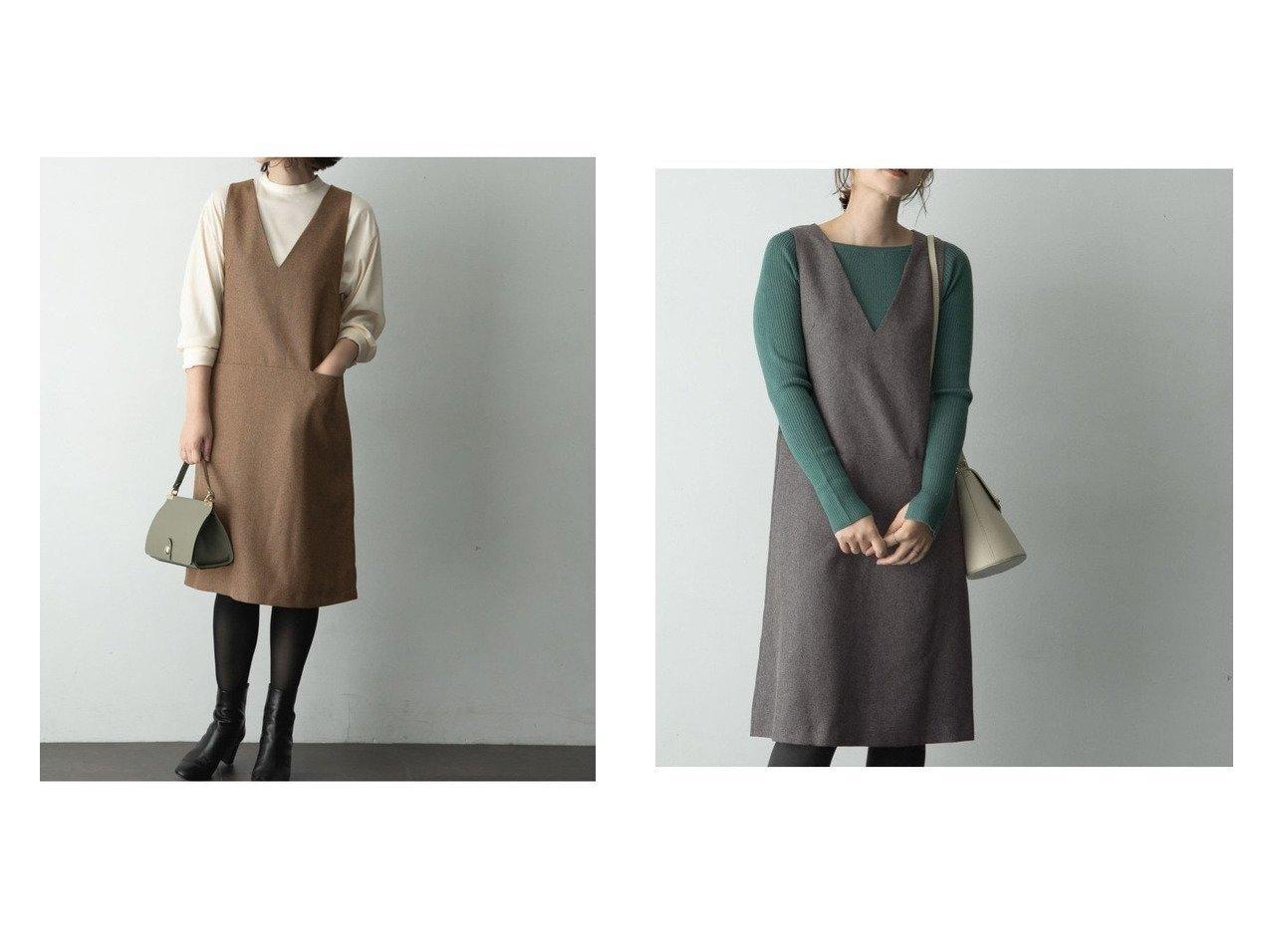 【URBAN RESEARCH ROSSO/アーバンリサーチ ロッソ】のツイードジャンパーワンピース ワンピース・ドレスのおすすめ!人気トレンド・レディースファッションの通販 おすすめで人気のファッション通販商品 インテリア・家具・キッズファッション・メンズファッション・レディースファッション・服の通販 founy(ファニー) https://founy.com/ ファッション Fashion レディース WOMEN ワンピース Dress インナー ツイード ハイネック フィット 人気 防寒 |ID:crp329100000006606