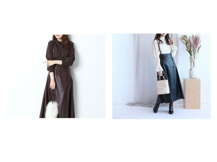 【Mystrada/マイストラーダ】のエコレザージャンスカ おすすめ!人気トレンド・レディースファッションの通販  おすすめファッション通販アイテム レディースファッション・服の通販 founy(ファニー) ファッション Fashion レディース WOMEN フレア |ID:crp329100000006672