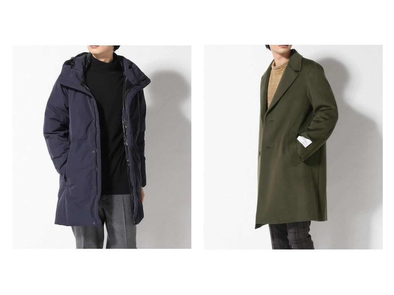 【EDIFICE / MEN/エディフィス】の140s BLD MOSSA ULSTER&Synex*FX DOWN COAT 【MEN】男性のおすすめ!人気トレンド・メンズファッションの通販 おすすめで人気のファッション通販商品 インテリア・家具・キッズファッション・メンズファッション・レディースファッション・服の通販 founy(ファニー) https://founy.com/ ファッション Fashion メンズ MEN アウター Coats Outerwear Men ダウン Down Coats And Jackets キルティング クッション コンパクト ジャケット スタイリッシュ ダウン ハイネック 防寒 クラシカル チェスターコート |ID:crp329100000006678