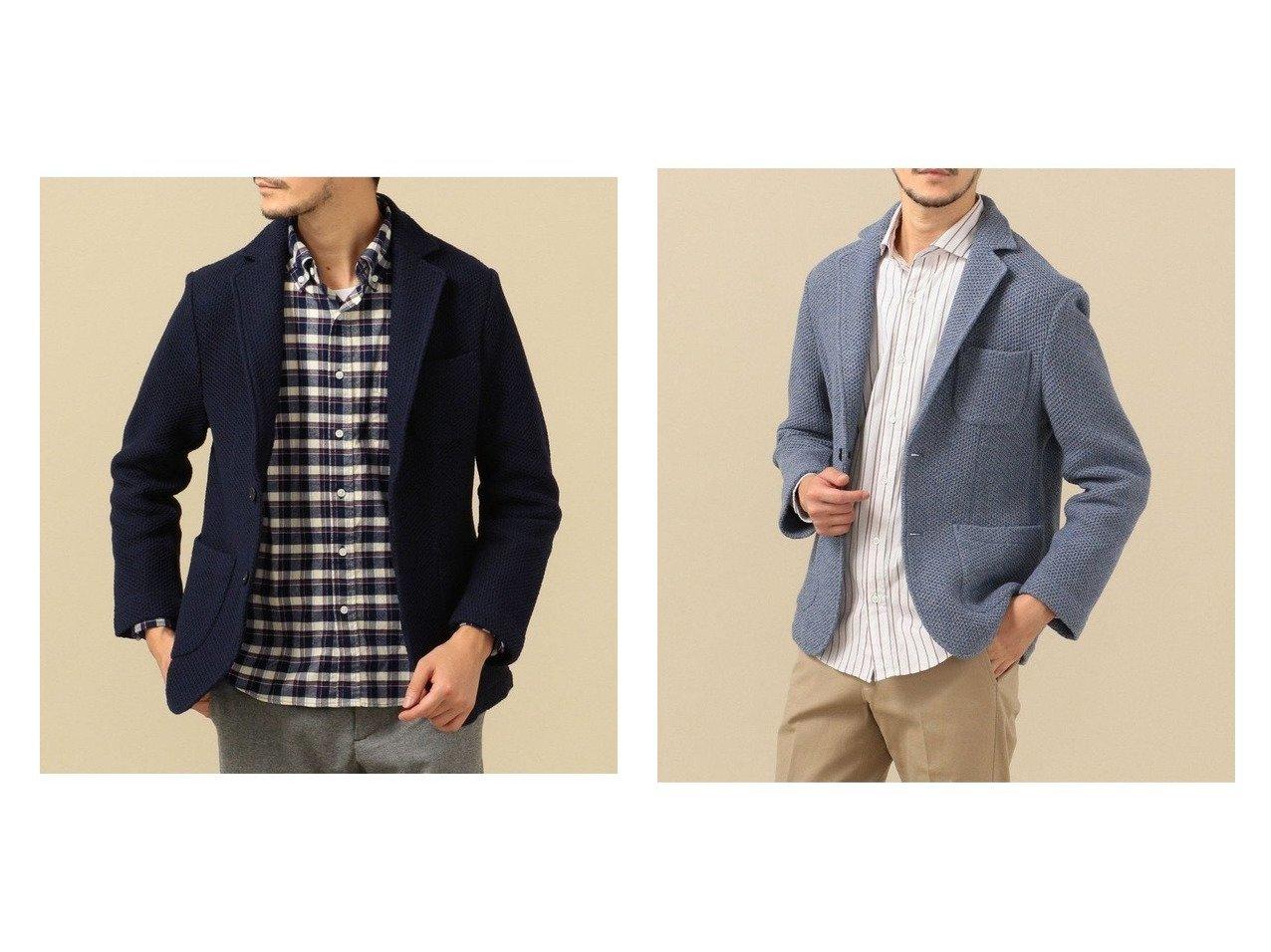 【SHIPS / MEN/シップス】のSC: TEXBRID ハニカム メッシュ ローゲージ 2ボタン ジャケット 【MEN】男性のおすすめ!人気トレンド・メンズファッションの通販 おすすめで人気のファッション通販商品 インテリア・家具・キッズファッション・メンズファッション・レディースファッション・服の通販 founy(ファニー) https://founy.com/ ファッション Fashion メンズ MEN カーディガン ジャケット ストレッチ ドロップ パターン パッチ ポケット メッシュ リラックス |ID:crp329100000006689
