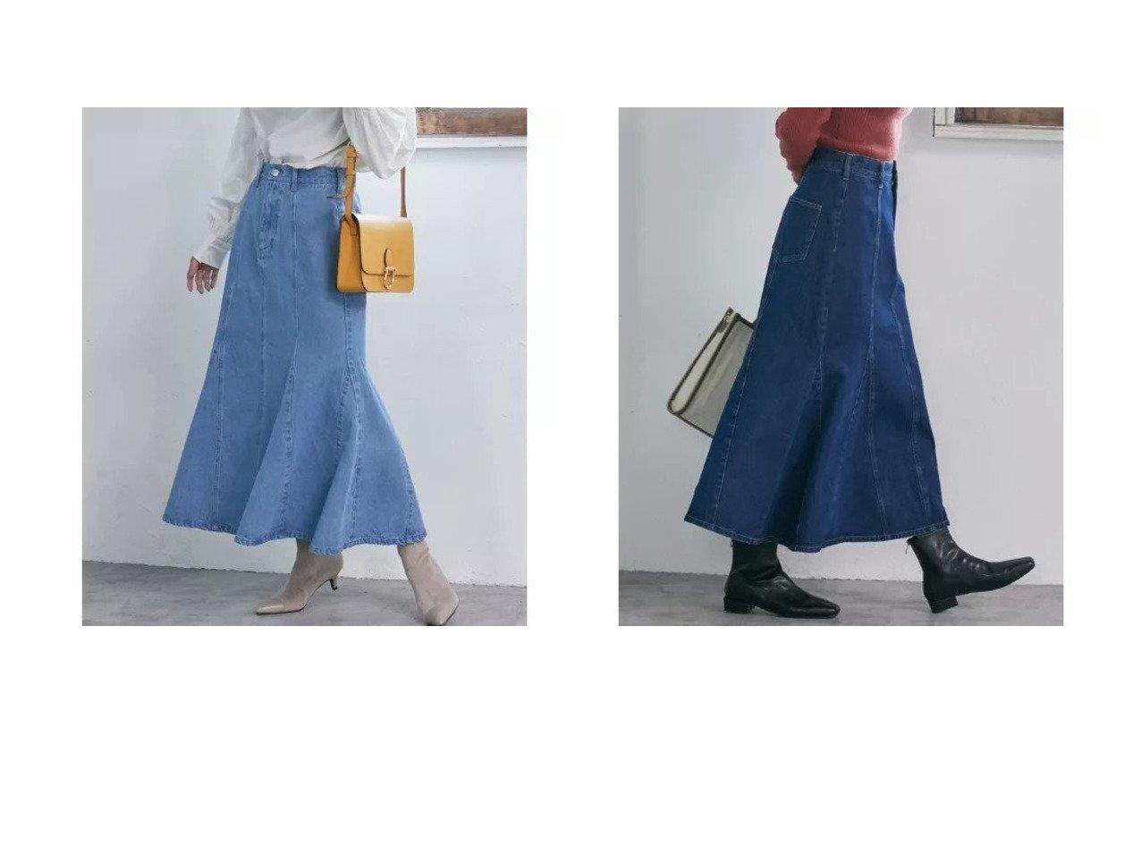 【VIS/ビス】の【Daily use】デニムマーメイドスカート〈WEB限定〉 別注・限定・コラボなど、おすすめ!人気トレンド・レディースファッション通販 おすすめで人気のファッション通販商品 インテリア・家具・キッズファッション・メンズファッション・レディースファッション・服の通販 founy(ファニー) https://founy.com/ ファッション Fashion レディース WOMEN スカート Skirt クラシカル デニム フェミニン ポケット マキシ マーメイド ロング |ID:crp329100000006706