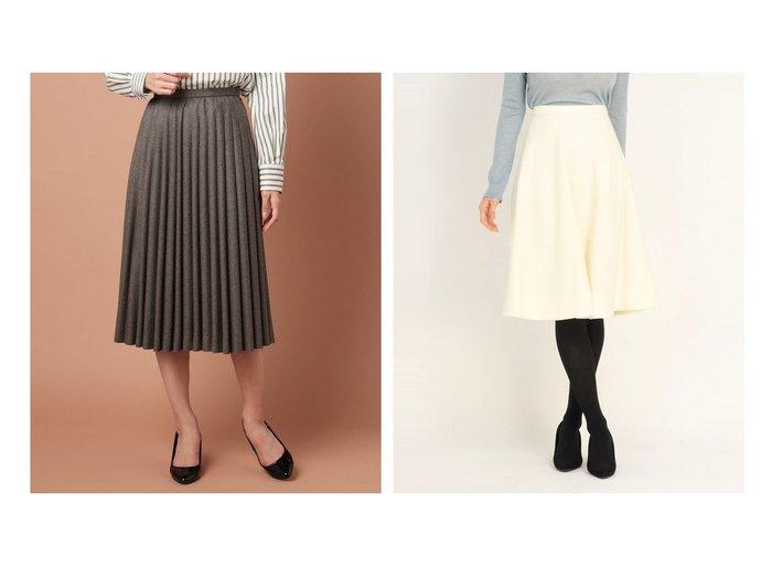 【OLD ENGLAND/オールド イングランド】のチェックフラノスカート&【UNIVERVAL MUSE/ユニバーバル ミューズ】のレーヌ天竺 スカート スカートのおすすめ!人気トレンド・レディースファッションの通販 おすすめファッション通販アイテム レディースファッション・服の通販 founy(ファニー) ファッション Fashion レディース WOMEN スカート Skirt プリーツスカート Pleated Skirts Aライン/フレアスカート Flared A-Line Skirts チェック ドレープ プリーツ ウォーム ギャザー シンプル フレア リブニット 人気 |ID:crp329100000006777