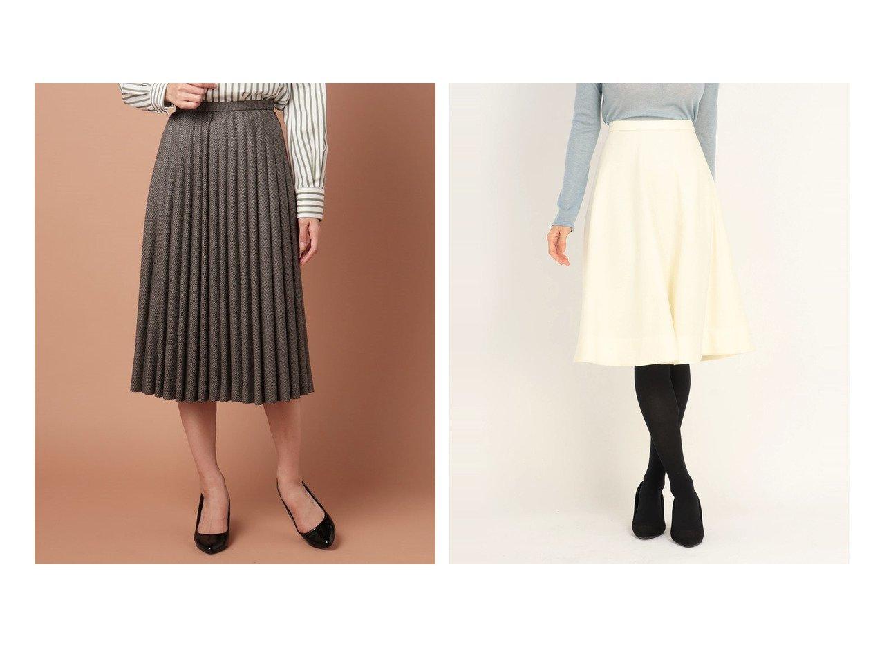 【OLD ENGLAND/オールド イングランド】のチェックフラノスカート&【UNIVERVAL MUSE/ユニバーバル ミューズ】のレーヌ天竺 スカート スカートのおすすめ!人気トレンド・レディースファッションの通販 おすすめファッション通販アイテム インテリア・キッズ・メンズ・レディースファッション・服の通販 founy(ファニー)  ファッション Fashion レディース WOMEN スカート Skirt プリーツスカート Pleated Skirts Aライン/フレアスカート Flared A-Line Skirts チェック ドレープ プリーツ ウォーム ギャザー シンプル フレア リブニット 人気 グレー系 Gray ブラウン系 Brown グリーン系 Green ホワイト系 White ブラック系 Black レッド系 Red |ID:crp329100000006777