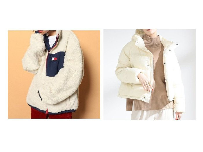【Ray BEAMS/レイ ビームス】のホワイトグース ダウンジャケット&【Tommy Jeans/トミージーンズ】のリバーシブルシェルパジャケット アウターのおすすめ!人気トレンド・レディースファッションの通販 おすすめファッション通販アイテム レディースファッション・服の通販 founy(ファニー)  ファッション Fashion レディース WOMEN アウター Coat Outerwear ジャケット Jackets ブルゾン Blouson Jackets ジャケット ブルゾン 冬 Winter 軽量 シンプル ダウン 防寒 |ID:crp329100000006803