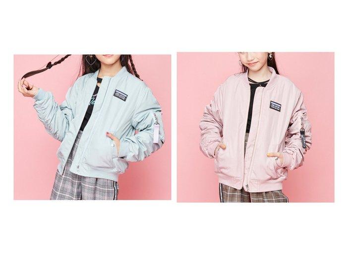【JENNI love / KIDS/ジェニィラブ】の裏フリースMA-1 【KIDS】子供服のおすすめ!人気トレンド・キッズファッションの通販 おすすめファッション通販アイテム レディースファッション・服の通販 founy(ファニー) ファッション Fashion キッズ KIDS アウター Coat Outerwear Kids チャーム ブルゾン ベーシック ポケット |ID:crp329100000006933