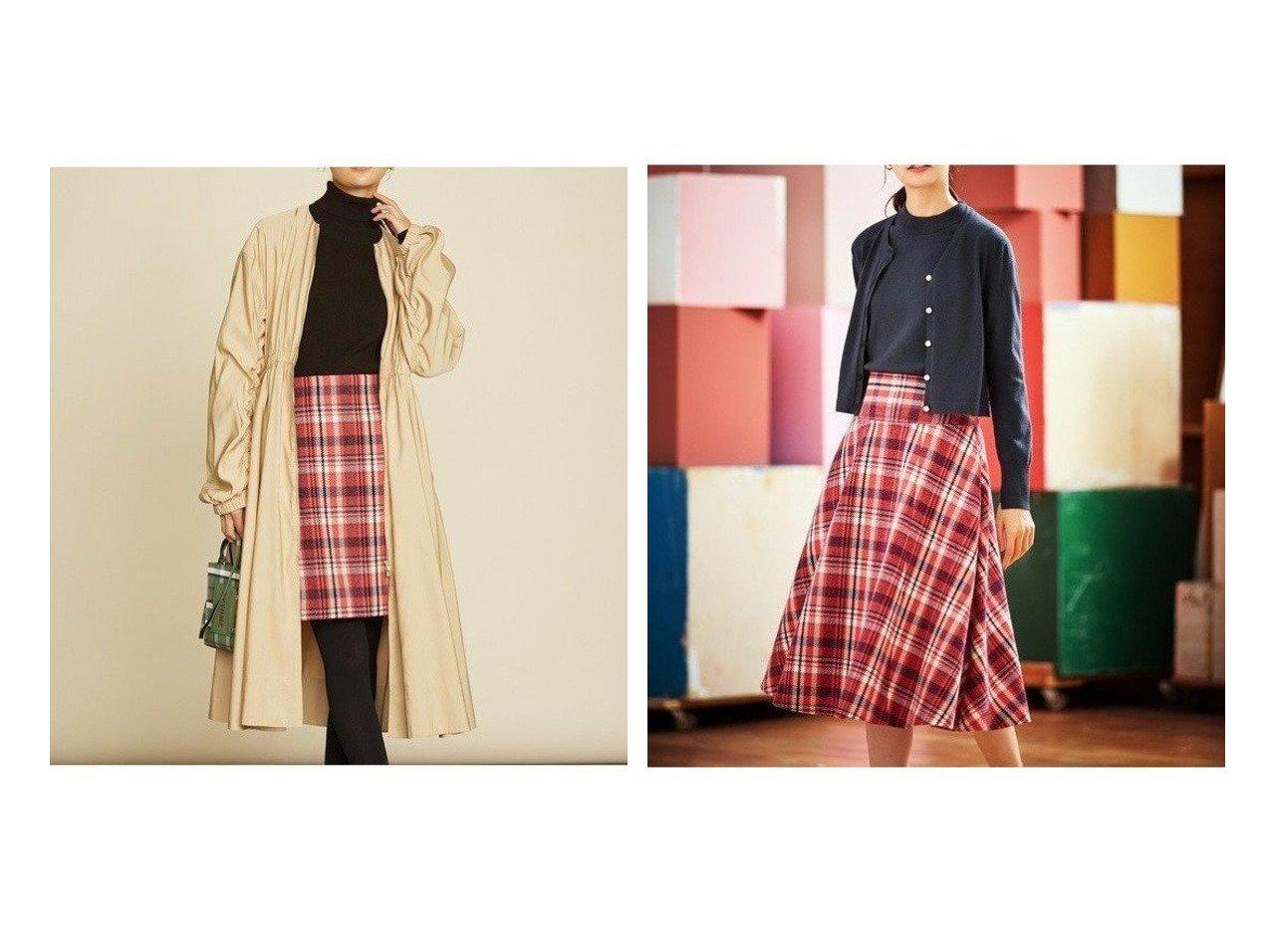 【KUMIKYOKU/組曲】の【Rythme KUMIKYOKU】ギャザーモッズ コート&【Rythme KUMIKYOKU】ビックチェックカルゼ フレアスカート おすすめ!人気トレンド・レディースファッションの通販 おすすめで人気のファッション通販商品 インテリア・家具・キッズファッション・メンズファッション・レディースファッション・服の通販 founy(ファニー) https://founy.com/ ファッション Fashion レディース WOMEN アウター Coat Outerwear コート Coats ジャケット Jackets モッズ/フィールドコート Mods Field Coats スカート Skirt Aライン/フレアスカート Flared A-Line Skirts ギャザー グログラン コレクション ショート シンプル ジャケット トレンド ドレス バルーン フレアースカート モッズコート A/W 秋冬 Autumn &  Winter |ID:crp329100000007239