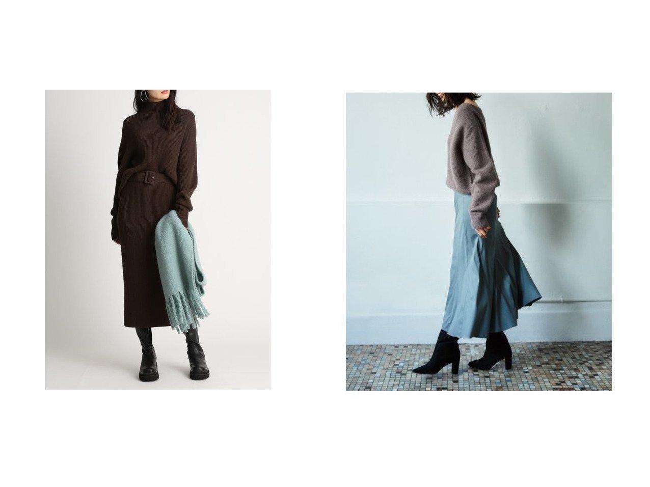 【FRAY I.D/フレイ アイディー】のフェイクスエードスカート&【Mila Owen/ミラオーウェン】のハイネックニットストレートスカートSET スカートのおすすめ!人気トレンド・レディースファッションの通販 おすすめで人気のファッション通販商品 インテリア・家具・キッズファッション・メンズファッション・レディースファッション・服の通販 founy(ファニー) https://founy.com/ ファッション Fashion レディース WOMEN セットアップ Setup トップス Tops スカート Skirt スカート Skirt ストレート スマート セットアップ 人気 ハイネック ボトルネック ロング 冬 Winter フェイクスエード マーメイド ラベンダー |ID:crp329100000007255