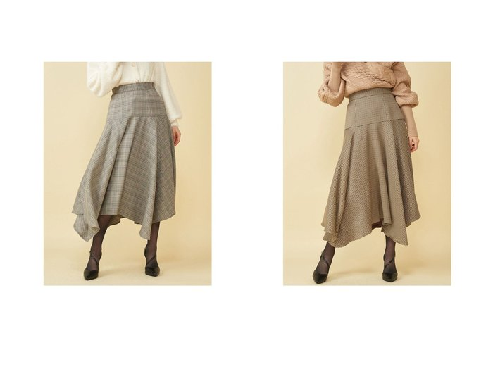 【ROYAL PARTY/ロイヤルパーティー】のイレヘムチェックスカート スカートのおすすめ!人気トレンド・レディースファッションの通販 おすすめファッション通販アイテム レディースファッション・服の通販 founy(ファニー) ファッション Fashion レディース WOMEN スカート Skirt  ID:crp329100000007265