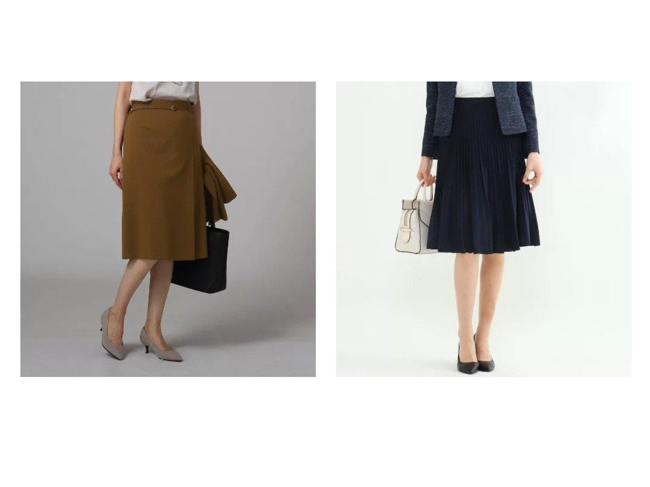 【UNTITLED/アンタイトル】の【洗える】KWTタックストレートスカート&【INDIVI/インディヴィ】のプリーツデシンスカート スカートのおすすめ!人気トレンド・レディースファッションの通販 おすすめで人気のファッション通販商品 インテリア・家具・キッズファッション・メンズファッション・レディースファッション・服の通販 founy(ファニー) https://founy.com/ ファッション Fashion レディース WOMEN スカート Skirt シンプル スタイリッシュ スリット ベーシック ポケット ミモレ エアリー ドレープ プリーツ |ID:crp329100000007269