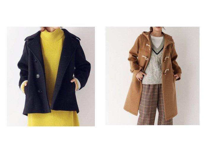 【AIRPAPEL/エアパペル】のソフトダブルクロスコート&【SHIPS any/シップス エニィ】のSHIPS any standard Pコート WOMEN アウターのおすすめ!人気トレンド・レディースファッションの通販 おすすめファッション通販アイテム レディースファッション・服の通販 founy(ファニー)  ファッション Fashion レディース WOMEN アウター Coat Outerwear コート Coats Pコート Pea Coats ダッフルコート Duffle Coats カシミヤ ストライプ ダブル ポケット ウッド クラシカル ダッフルコート |ID:crp329100000007340