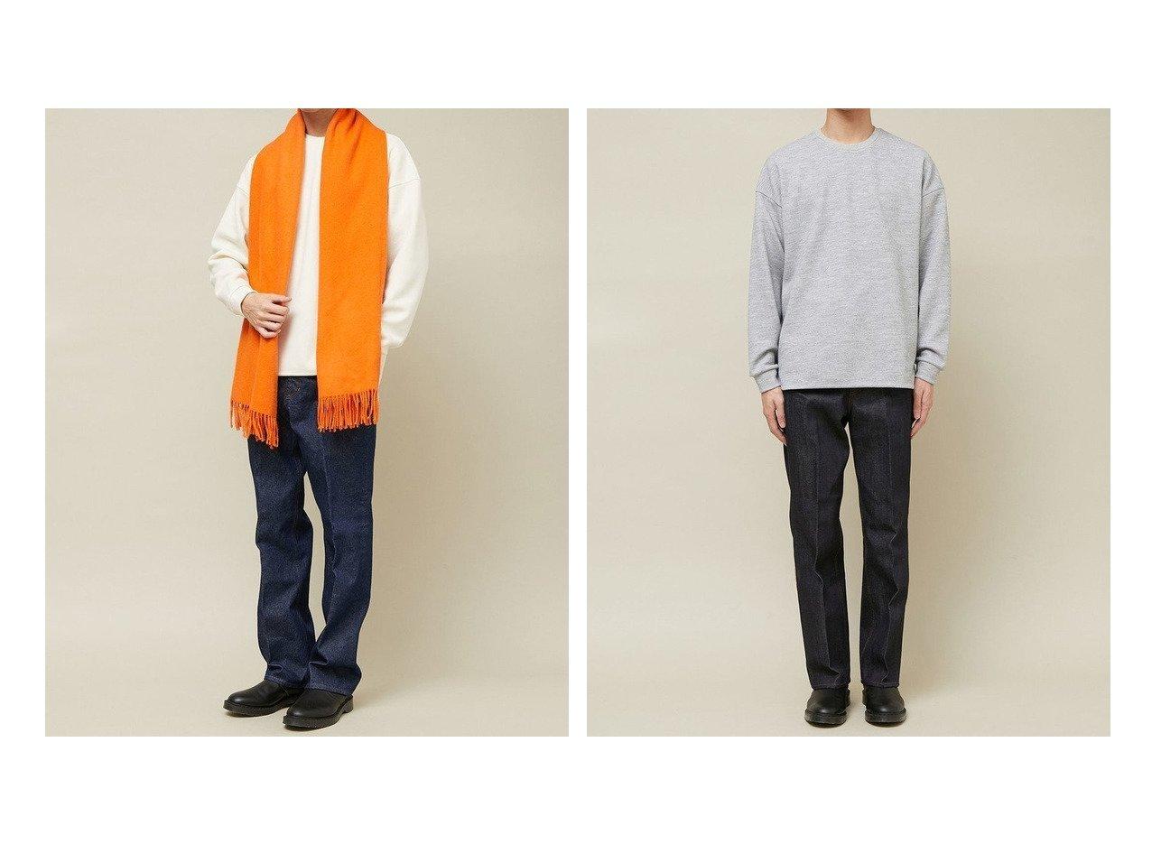 【Adam et Rope / MEN/アダムエロペ 】のクロスサーモアシンメトリーヘム ロングスリーブ プルオーバー 【MEN】男性のおすすめ!人気トレンド・メンズファッションの通販  おすすめで人気のファッション通販商品 インテリア・家具・キッズファッション・メンズファッション・レディースファッション・服の通販 founy(ファニー) https://founy.com/ ファッション Fashion メンズ MEN トップス Tops Tshirt Men アクリル インナー ショルダー スポーツ スリーブ ドロップ ベーシック リラックス ロング 冬 Winter |ID:crp329100000007425