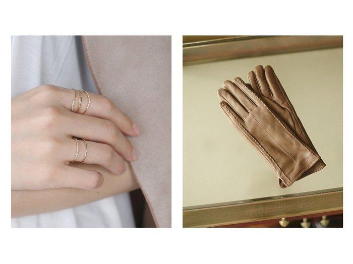 【SIENA/シエナ】のLINE・リング[Hライン・エタニティダイヤ]&【nano universe/ナノ ユニバース】のエチオピアレザーグローブ おすすめ!人気トレンド・レディースファッションの通販 おすすめファッション通販アイテム レディースファッション・服の通販 founy(ファニー) ファッション Fashion レディース WOMEN 手袋 Gloves アクセサリー コレクション チェーン ネックレス シンプル 防寒 |ID:crp329100000007482