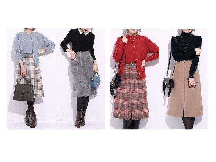 【Apuweiser-riche/アプワイザーリッシェ】のウールチェックリバースカート スカートのおすすめ!人気トレンド・レディースファッションの通販 おすすめファッション通販アイテム レディースファッション・服の通販 founy(ファニー) ファッション Fashion レディースファッション WOMEN スカート Skirt タイトスカート チェック フロント |ID:crp329100000007518
