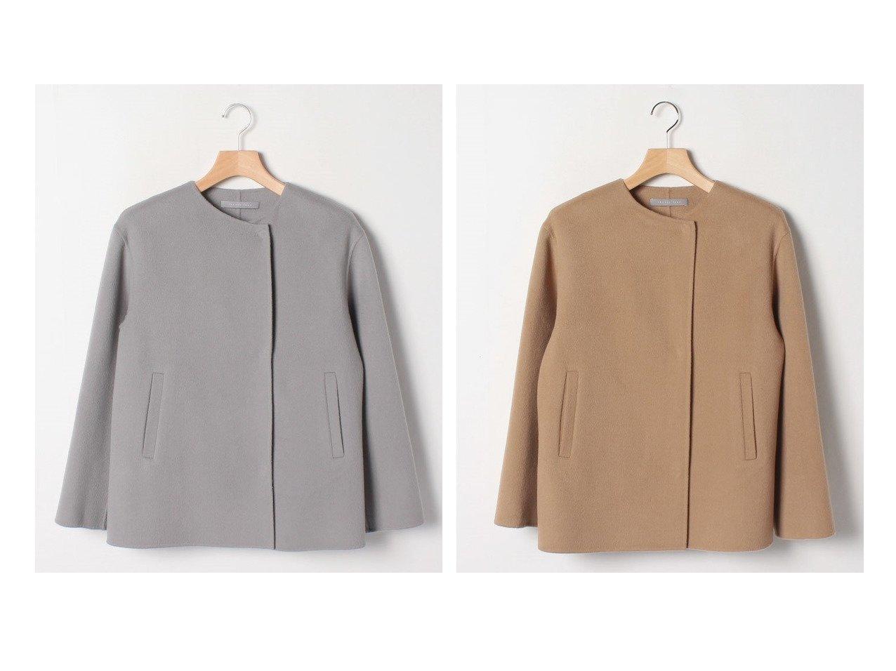 【Theory Luxe/セオリーリュクス】のコート MOTION REME アウターのおすすめ!人気トレンド・レディースファッションの通販 おすすめで人気のファッション通販商品 インテリア・家具・キッズファッション・メンズファッション・レディースファッション・服の通販 founy(ファニー) https://founy.com/ ファッション Fashion レディースファッション WOMEN アウター Coat Outerwear コート Coats なめらか カシミヤ ショート フィット  ID:crp329100000007570